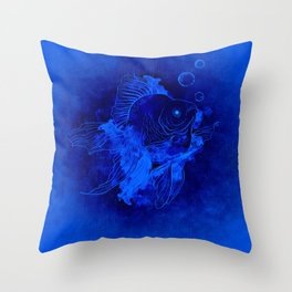 Fish Illustration (Goldfish) Throw Pillow