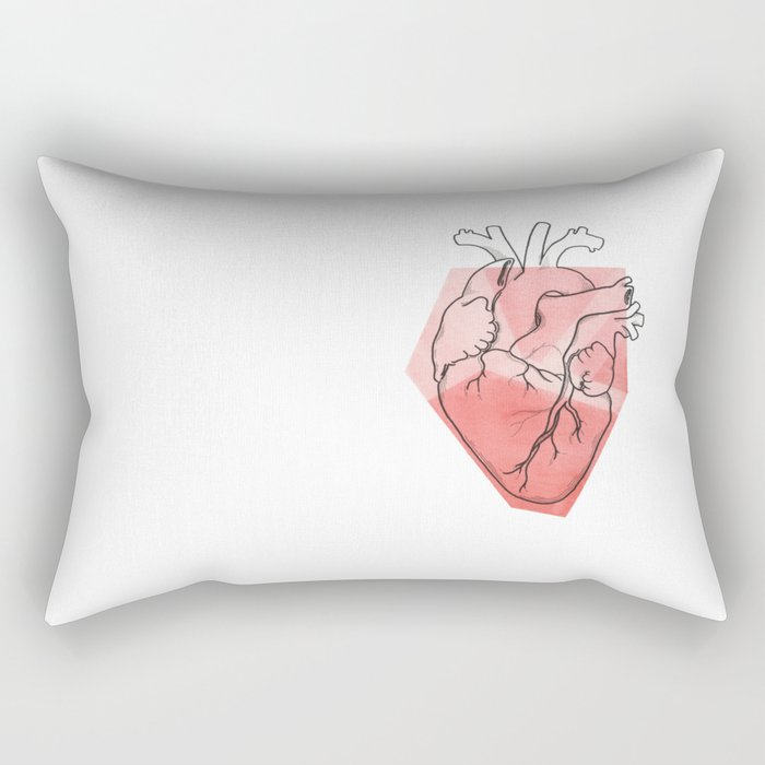 Heart Lines Rectangular Pillow
