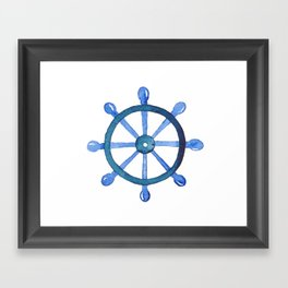 Navigating the seas Framed Art Print