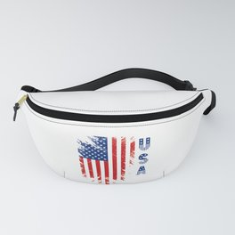 Patriotic USA 4th of July American Flag graphic Fanny Pack