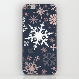 Beautiful Christmas pattern design with snowflakes iPhone Skin
