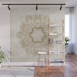 Mandala Temptation in Cream Wall Mural