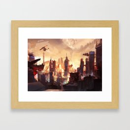 Worlds behind worlds Framed Art Print