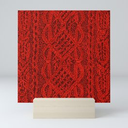 Fancy Red Cable Panel Mini Art Print