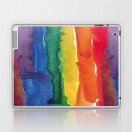rainbow watercolor Laptop & iPad Skin