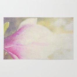 Magnolia × soulangeana -- Tulip Tree Flower Botanical Painterly Rug