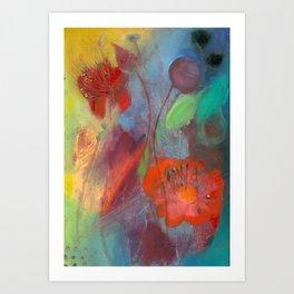 Blissfully entangled Art Print