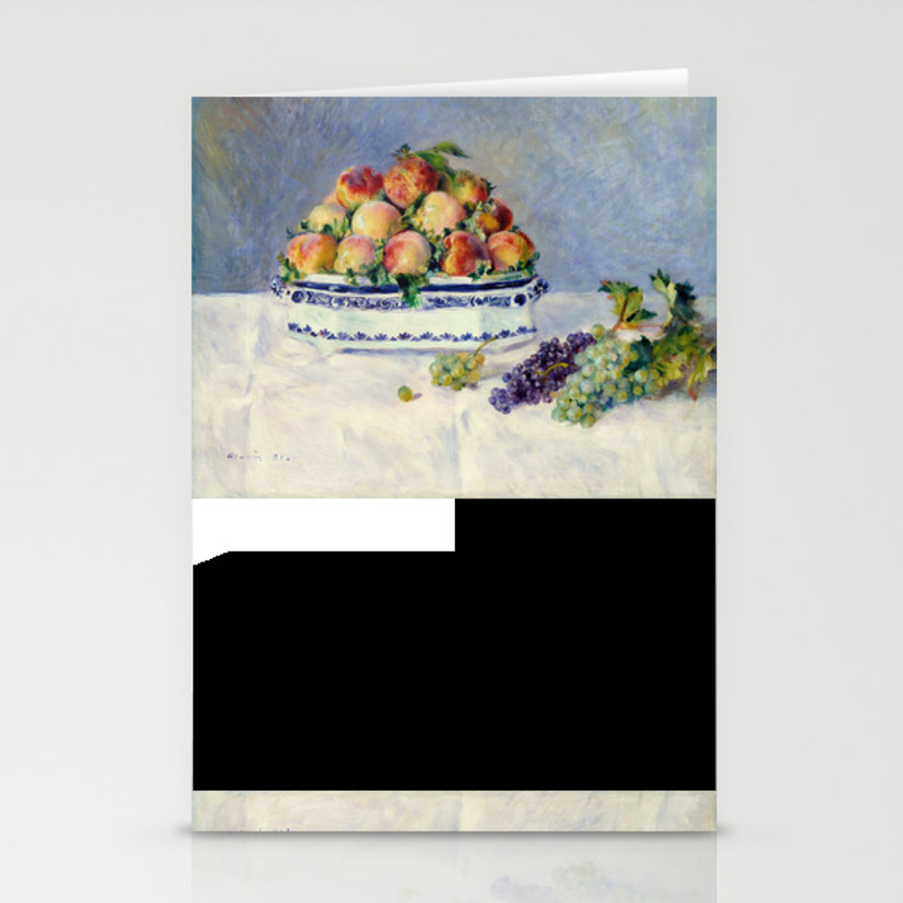 "Auguste Renoir """"still Life With Peaches And Grapes… Stationery Cards by Alexandra_arts"" CRD9097175"