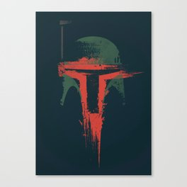 Boba Fett Art - StarWars Fan Painting Canvas Print