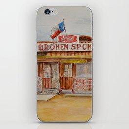 The Broken Spoke - Austin's Legendary Honky-Tonk Watercolor Painting iPhone Skin