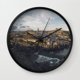 Toledo at sunset Wall Clock