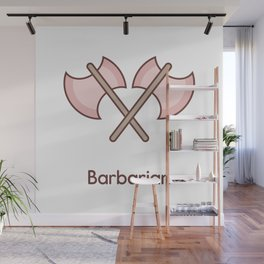 Cute Dungeons and Dragons Barbarian class Wall Mural