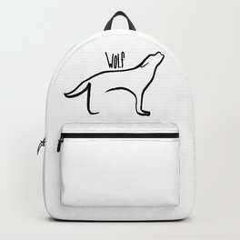Simple Wolf Backpack