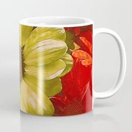Floral Red & Gold Coffee Mug