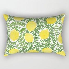 The Fresh Lemon Rectangular Pillow