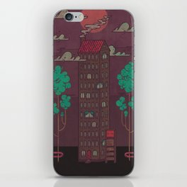 The Towering Bed and Breakfast of Unparalleled Hospitality iPhone Skin