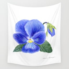 Purple Pansy by Teresa Thompson Wall Tapestry
