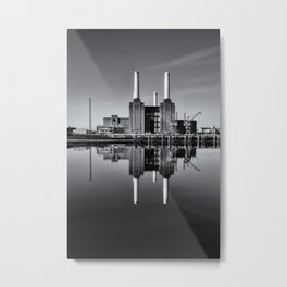 Mono Battersea Power Station Metal Print