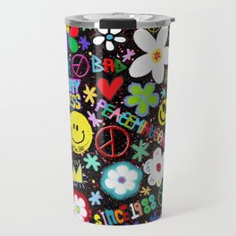 PMO colorful collage Travel Mug