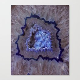 Quartz Inside Geode rustic decor Canvas Print
