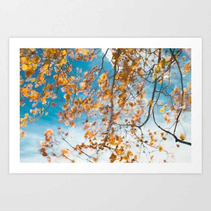 Autumn In Motion Art Print