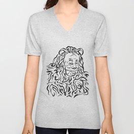 Face The Lion Unisex V-Neck