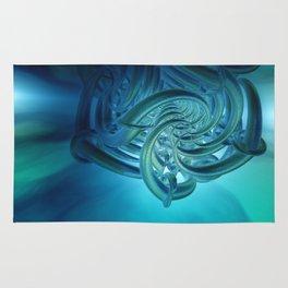 fractal decor meets sky -2- Rug