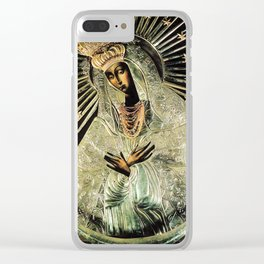 Our Lady Gate of Dawn Virgin Mary of Sharp Gate Madonna without Child Christmas Gift Religion Art Clear iPhone Case