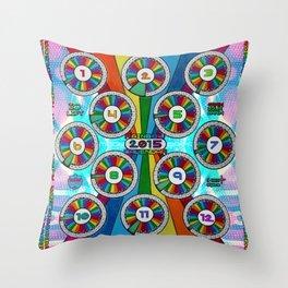 2015 Rainbow Calendar . style C Throw Pillow