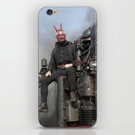 Steam locomotive with mephistopheles. iPhone Skin