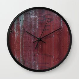 Red Wood Wall Clock