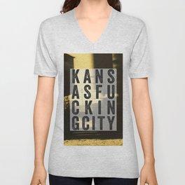 Kansas Fucking City Unisex V-Neck