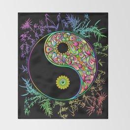 Yin Yang Bamboo Psychedelic Throw Blanket