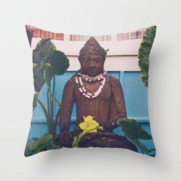 Vintage Kauai Buddha Throw Pillow