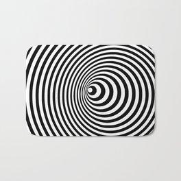 Vortex, optical illusion black and white Bath Mat