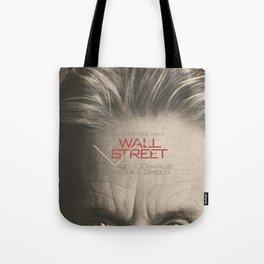 Wall Street, alternative movie poster, Gordon Gekko, Oliver Stone, film, minimal fine art playbill Tote Bag