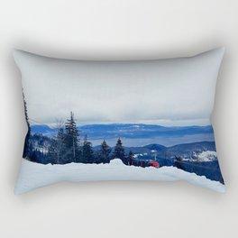 ski resort Rectangular Pillow