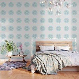 Turquoise White Mandala Wallpaper