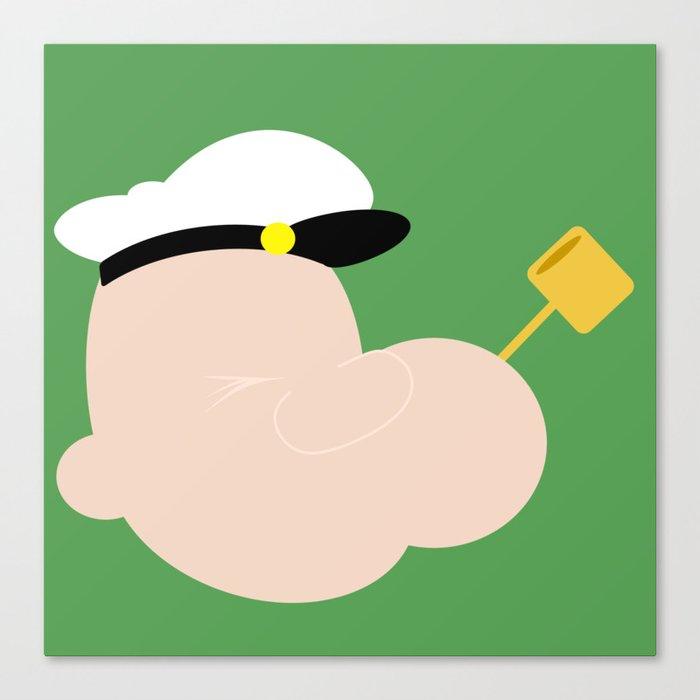 4menSmoking - Popeye Canvas Print