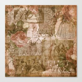 Vintage & Shabby Chic - Victorian ladies pattern Canvas Print