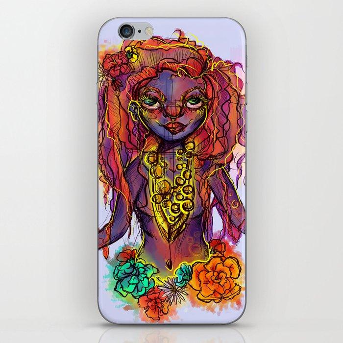 Flower Power Girl iPhone Skin