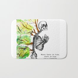 Beauty & Bones - Rumi quote Bath Mat