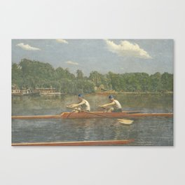 The Biglin Brothers Racing by Thomas Eakins Canvas Print