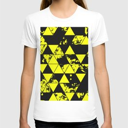 Splatter Triangles In Black And Yellow T-shirt