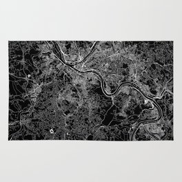 Pittsburgh Black Map Rug