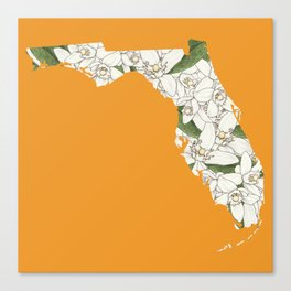 Florida in Flowers Canvas Print