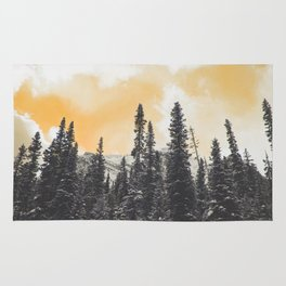 Orange Skys Above the Pines Rug