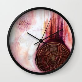 Pineal Blush Song #2 Original Acrylic Painting by Rachael Rice Wall Clock