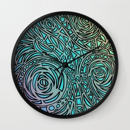 How the river flows - Zentangle Art Wall Clock