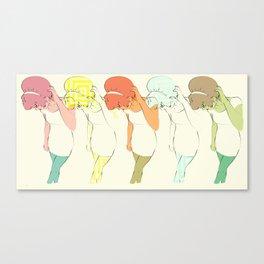 She Screamed Sixties Canvas Print